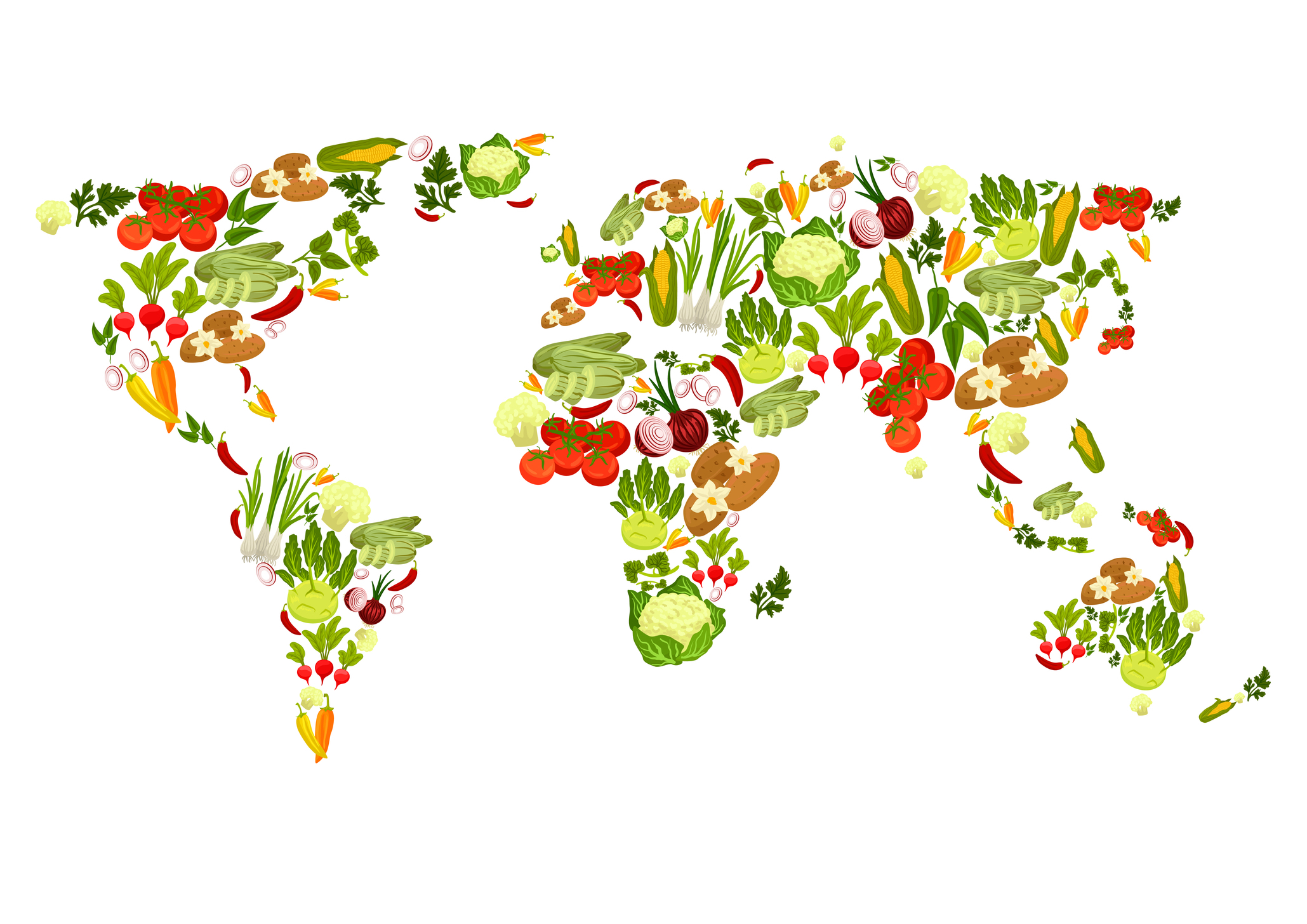 World Map of Veggies dreamstime_m_85261605 no text
